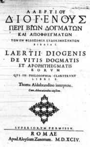 Diogène Laërce et le Jeu du Tao dans RESSOURCES et Savoirs en TAO diogenee-184x300