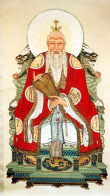 Le Tao et le maître Lao-Tseu dans Histoire du Jeu du Tao 220px-daodetianzun