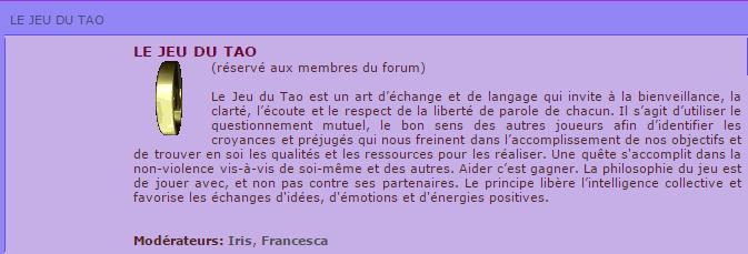 tao forum