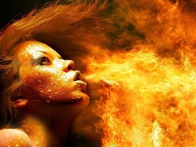 méditation feu